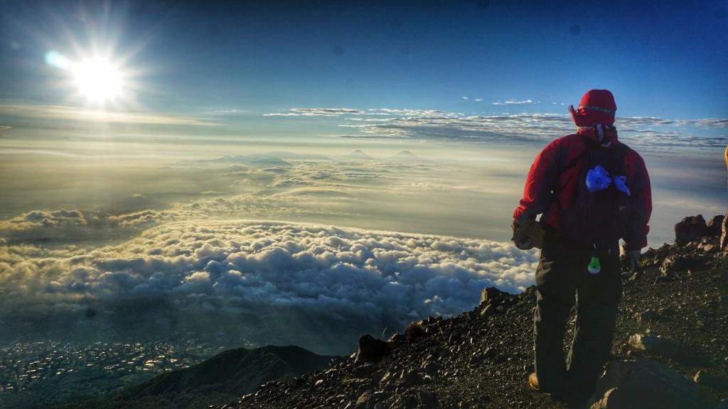 View From Top of Mountain Slamet 3428 Mdpl